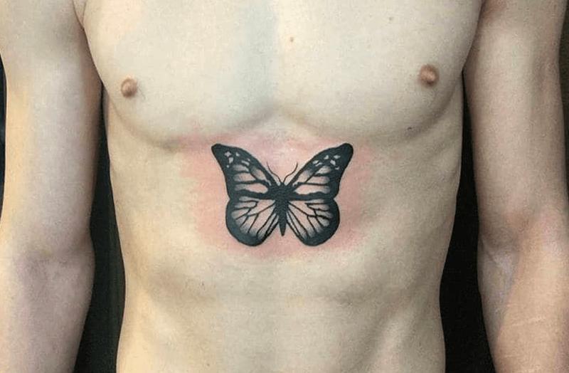 tatuajes de mariposas para hombres