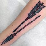 significados de tatuajes de flechas rotas