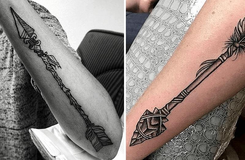 significado de los tatuajes de flechas indias