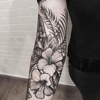 ideas de flores hawaianas para tatuajes