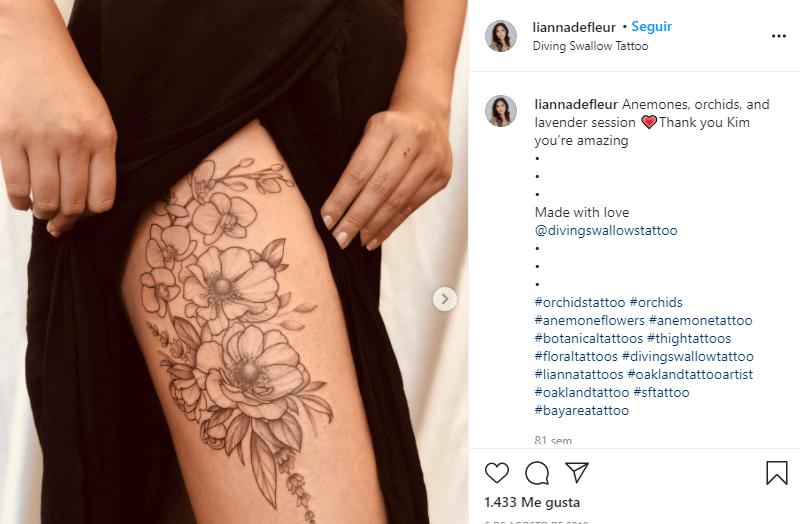 tatuajes de orquídeas con significado espiritual