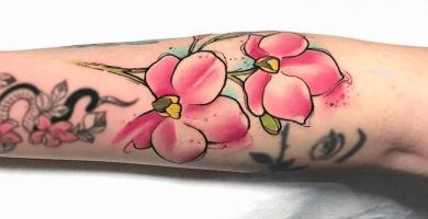 significado de los tatuajes de orquídeas