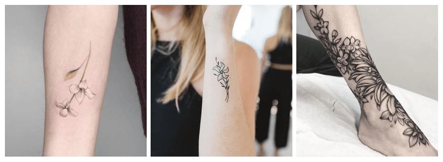 tatuajes de flores de jazmín