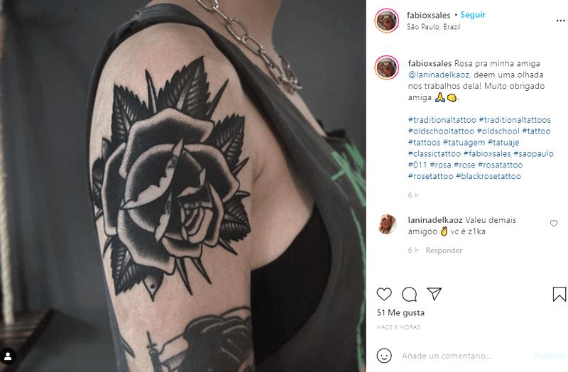 significado tatuajes de rosas negras