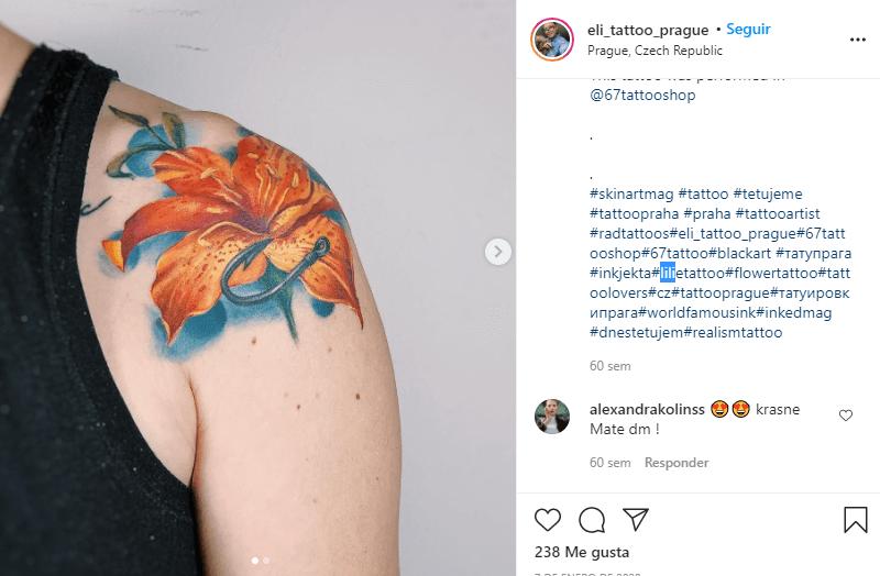 significado de los tatuajes de lirios de color naranja