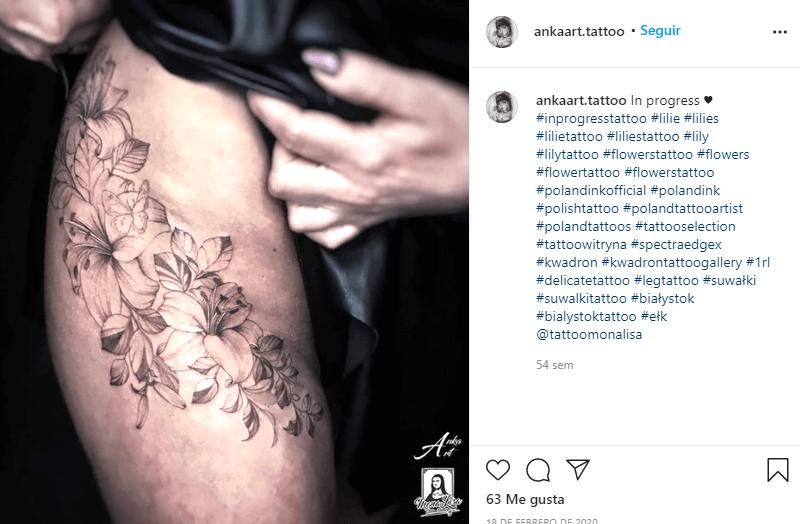tatuajes de lirios para mujeres